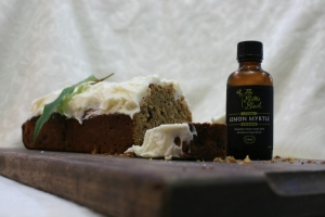 Wattleseed cake with Lemon Myrtle icing